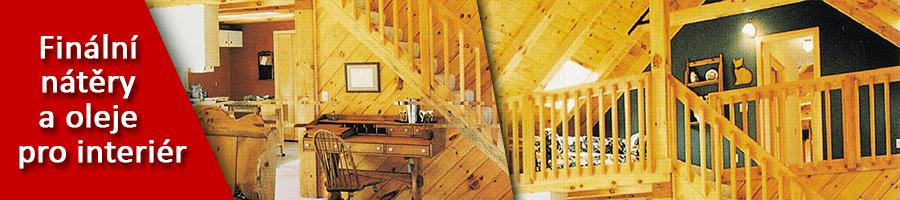 Finální nátěry a oleje pro interiér